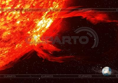 太阳和地球 | 高分辨率插图 |ID 3117431