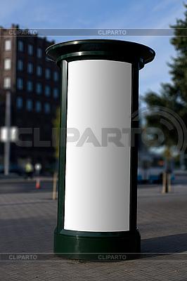 Blank outdoor Kolumna reklamowa | Foto stockowe wysokiej rozdzielczości |ID 3113336