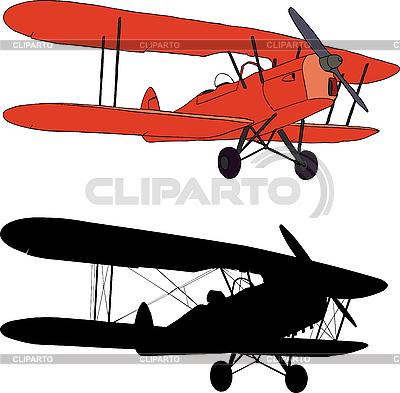Stary samolot | Stockowa ilustracja wysokiej rozdzielczości |ID 3113348