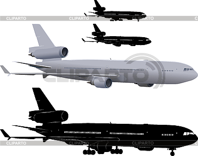 Verkehrsflugzeug   Illustration mit hoher Auflösung  ID 3113350