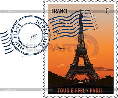 Paris - Briefmarke | Stock Vektorgrafik |ID 3114102