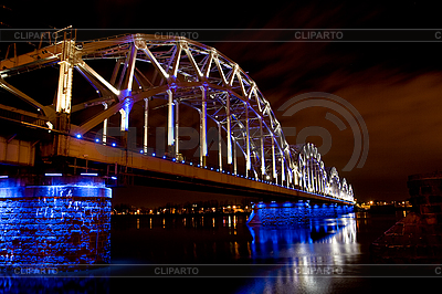 Eisenbahnbrücke in Riga | Foto mit hoher Auflösung |ID 3114250