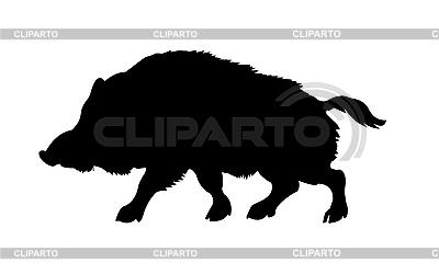 Silhouette der Wildschweine | Stock Vektorgrafik |ID 3113269
