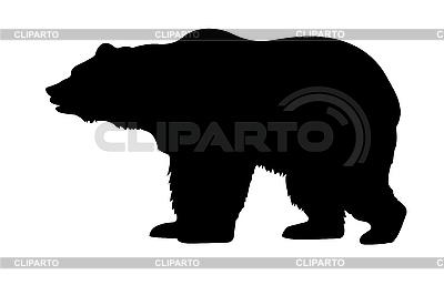 Sylwetka niedźwiedzia | Klipart wektorowy |ID 3113273