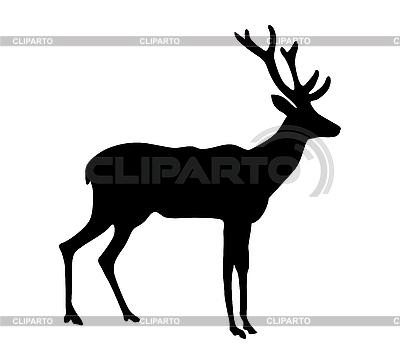 Silhouette eines Hirsches | Stock Vektorgrafik |ID 3201810