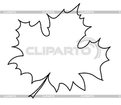 Силуэт кленовый лист на белом