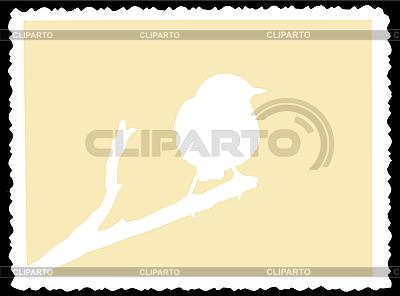 Wróbel na gałęzi | Klipart wektorowy |ID 3202460
