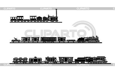 Conjunto de trenes antiguos | Ilustración vectorial de stock |ID 3202960