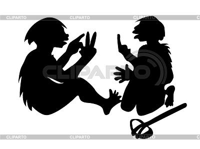Dwa neanderthal mans | Klipart wektorowy |ID 3220634