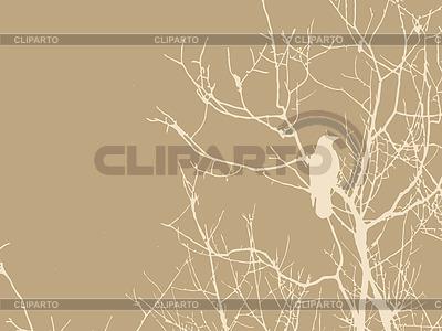 Krähe auf einem Baum | Stock Vektorgrafik |ID 3232098