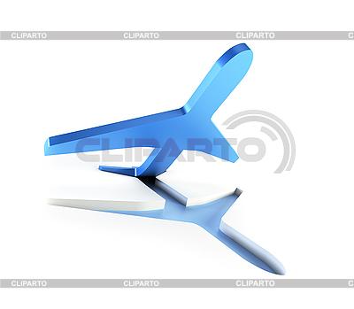 Symbolisches Flugzeug im Start | Illustration mit hoher Auflösung |ID 3125725
