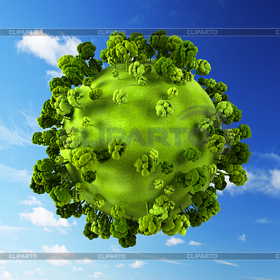 Маленькая зеленая планета | Иллюстрация большого размера |ID 3355244