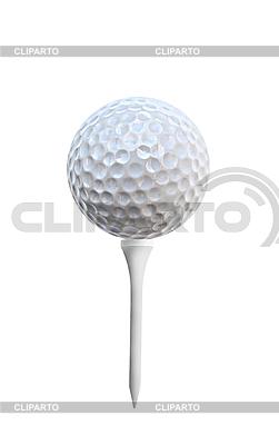 Golfball auf einem Golftee | Foto mit hoher Auflösung |ID 3117250