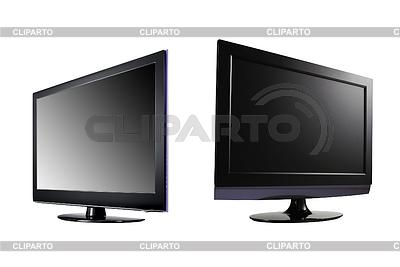 Zwei LCD-High-Definition-Flachbildschirm-Fernseher | Foto mit hoher Auflösung |ID 3239807
