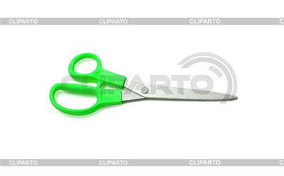 Green scissors on white | Foto stockowe wysokiej rozdzielczości |ID 3239960