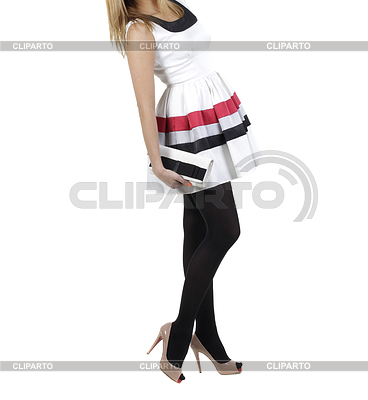 Девушка в красивом платье с сумкой Фото большого размера ID 3241041.