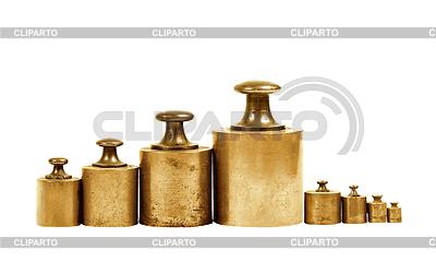 Zestaw ciężarków precyzji dla skali równowagi | Foto stockowe wysokiej rozdzielczości |ID 3345349