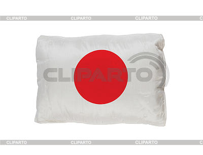 Poduszka japonia flaga | Foto stockowe wysokiej rozdzielczości |ID 3355488