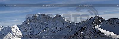Panorama Kaukazu zimą | Foto stockowe wysokiej rozdzielczości |ID 3117701