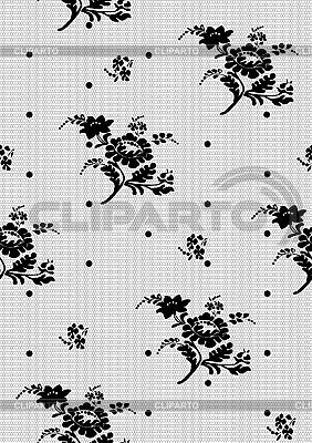 까만 꽃 레이스의 배경 | 벡터 클립 아트 |ID 3121076