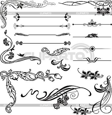 Jugendstil-Ornamente und Ecken | Stock Vektorgrafik |ID 3187561