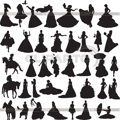 Wedding Silhouettes Stock Photos And Vektor Eps Clipart