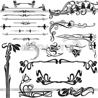 Art nouveau dekoracji | Klipart wektorowy |ID 3275006