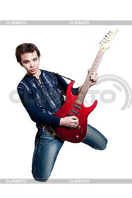 Gitarrist mit E-Gitarre | Foto mit hoher Auflösung |ID 3121727