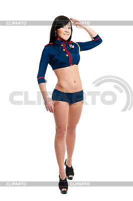 Club Dancer Frauen in Uniform Seemann | Foto mit hoher Auflösung |ID 3171128
