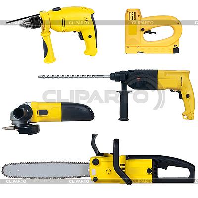 Zestaw narzędzi elektrycznych | Foto stockowe wysokiej rozdzielczości |ID 3123568
