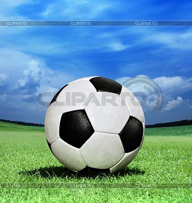 Piłka nożna na zielonej trawie | Foto stockowe wysokiej rozdzielczości |ID 3371458