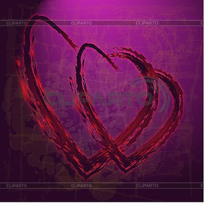 Valetinstagkarte mit Herzen | Illustration mit hoher Auflösung |ID 3126114