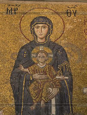 Altes Mosaik mit Muttergottes | Foto mit hoher Auflösung |ID 3125875