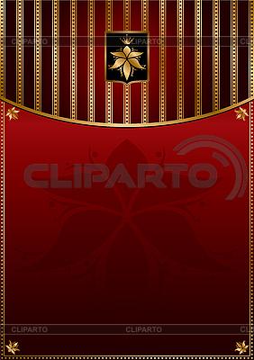 Red złotym tle | Klipart wektorowy |ID 3125986