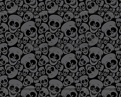 Muster von Totenköpfen | Stock Vektorgrafik |ID 3125993