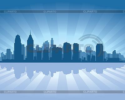 Skyline von Philadelphia | Stock Vektorgrafik |ID 3126052