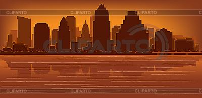 Skyline von Austin | Stock Vektorgrafik |ID 3139144