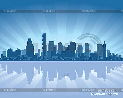 Boston skyline | Klipart wektorowy |ID 3175886