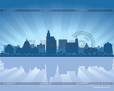Jackson, Mississippi skyline | Klipart wektorowy |ID 3179095