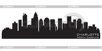 Charlotte NC skyline | Klipart wektorowy |ID 3201350