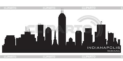 Skyline von Indianapolis | Stock Vektorgrafik |ID 3201371