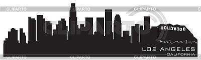 Los Angeles, California skyline. Szczegółowa sylwetka | Klipart wektorowy |ID 3201379