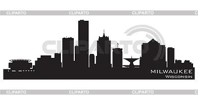 Milwaukee skyline | Klipart wektorowy |ID 3201387