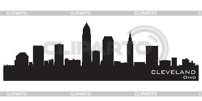 Skyline von Cleveland, Ohio. Detaillierte Silhouette | Stock Vektorgrafik |ID 3319061