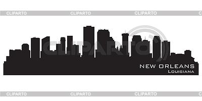 Nowy Orlean, Luizjana skyline. Szczegółowa sylwetka | Klipart wektorowy |ID 3345805