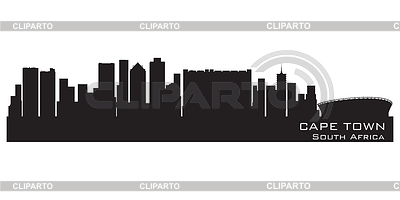 Cape Town, Skyline. Detaillierte silhouette | Stock Vektorgrafik |ID 3364847