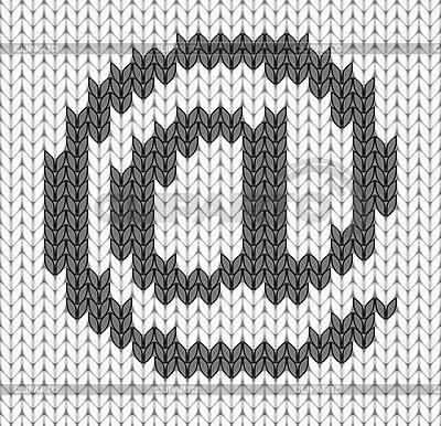 Gestricktes E-Mail-Icon | Stock Vektorgrafik |ID 3166948
