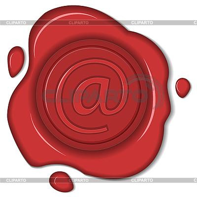 Wachs-Siegel mit E-Mail-Zeichen | Stock Vektorgrafik |ID 3184167