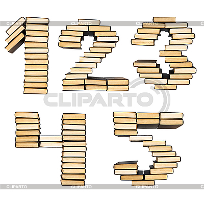 Liczby książek | Foto stockowe wysokiej rozdzielczości |ID 3127230