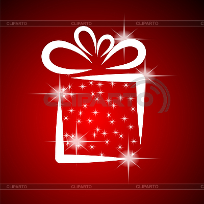 Weihnachtskarte mit Geschenk-Box | Stock Vektorgrafik |ID 3133983